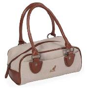 Kangol - Cream with Brown Trim Bowling Bag
